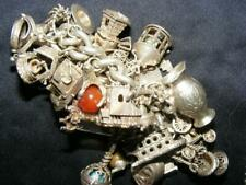 Silver Vintage Charm Bracelet  222 Gms - Over 35 charms - Some with moving parts