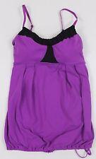 Lululemon Yogi Dance Tank WOMENS 4 Purple Luon Built in Mesh Shelf-Bra