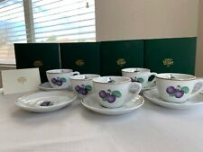 Richard Ginori Italian Fruits Espresso Cups With Plates - NEW