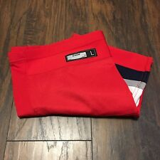 Hartford Wolf Pack Red Alternate CCM/Reebok Pro Stock Hockey Socks Size Large