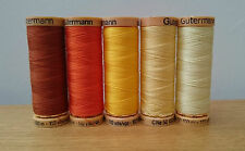 Gutermann Natural Cotton Sewing Thread 100m set of 5 - FN4 - Yellows & oranges