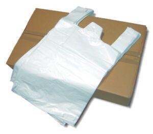 Hemdchen Tüten Knotenbeutel geblockt Shopper weiß 23+12x35cm