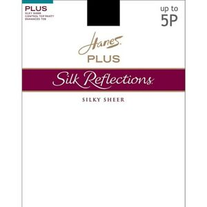 Hanes Silk Reflections Plus Sheer Control Top Enhanced Toe Pantyhose - 12 COLORS
