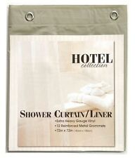 "Linen Heavy Weight Hotel Quality 8-gauge Vinyl  Shower Liner: 72"" x 72"""
