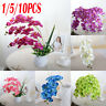 10X Beauty Butterfly Orchid Silk Flower Home Wedding Decor Phalaenopsis Bouquet