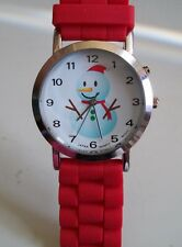 Fashion Christmas Snowman Musical Jelly Silicone Girls,Women's Wrist Watch