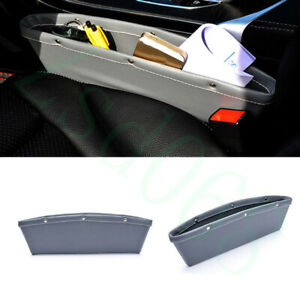 2x Grey PU Front Centre Seat Side Organizer Box Container For Audi All Model Car