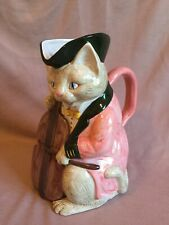 Vintage Fitz & Floyd Ff Cat Playing Fiddle Pitcher