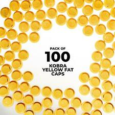 Kobra Yellow Fat Caps - 100 Pack