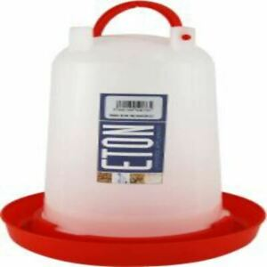 Eton Plastic Drinker with Handle 3L Locking Watering Station for Poultry Carry