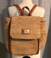Portugal Linea Massima Eco Friendly Cork Full Sized Backpack Bag Purse NWOT