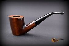 HAND MADE WOODEN TOBACCO SMOKING PIPE  no 48  PEAR Brown   + Filter