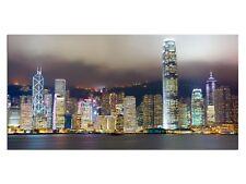 HD Glasbild EG4100500450 HONG KONG ARCHITEKTUR FARBIG 100 x 50 cm Wandbild STADT