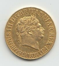 More details for 1818 sovereign king george iii full gold sovereign coin.