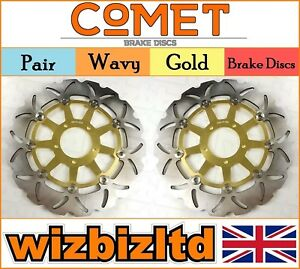 Comet Paire Or Ondulé Frein Avant Disques Ducati 1100 S Hypermotard 07-09