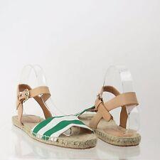 Women's Coach Reena Shoes Green Canvas Espadrille Sandals Size 8 M NEW!