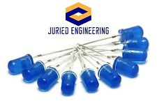 25 X Blue Led 5mm Round Wide Angle Diffused Led Light Emitting Diode Bright Pcb