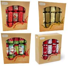 "Box 10 x Large 12"" Christmas Crackers Traditional Family Dinner Gift Joke Hat"