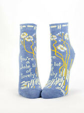 Women's Ankle Socks, Whole Lotta Lovely, Blue Q, Cotton, One Size, Funny, Novelt