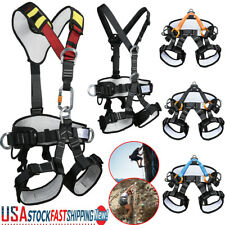 Full Body Climbing Harness Half Body Rappel Rescue Protect Safety Seat Belt US