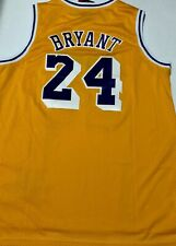 Kobe Bryant LOS ANGELES LAKERS #24 jersey gold throwback NWT mens stitched