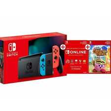 NINTENDO SWITCH NEON 2019 + SUBSCRIPCIÓN 90 DÍAS + COD..GRATIS SUPER KIRBY CLASH