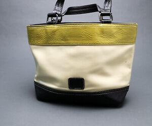 Principles - Ben De Lisi - Olive, Cream and Black Hand Bag - Very Good Condition