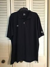 Under Armour Black Golf Polo Shirt  Sz XL Heat Gear Yale Brand Company