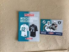 Miami Dolphins v Oakland Raiders 2014 NFL Merchandise Brochure and Sitemap