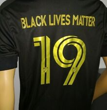 BLACK LIVES MATTER (Juneteenth) 19 ADIDAS LOS ANGELES FC SOCCER FOOTBALL JERSEY