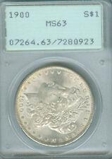 """1900 Morgan Dollar PCGS MS 63 OLD """"RATTLER"""" HOLDER (1620346)"""