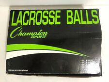 Champion Sports Official Lacrosse Balls (Multi-Colored, Pack of 10)