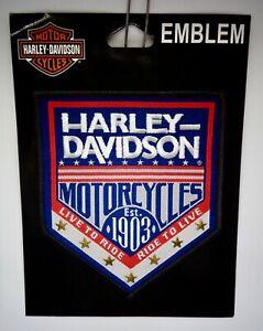 Harley-Davidson Motos Patch à Coudre Republic Tissé Label Avec Star Clous