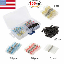 100 X Waterproof Solder Sleeve Heat Shrink Tube Wire Terminal Connectors 5 Size