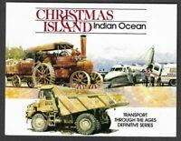 Historic Transport set mnh-Christmas Island-1990 in folder-Trains-trucks-Steam