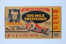 Used 1957 Indianapolis 500 / Indy 500 Race day ticket