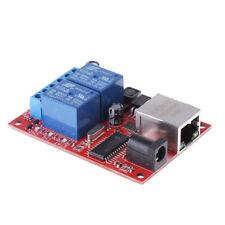 2 Way LAN Ethernet Relay Board Delay Switch TCP/UDP Controller Module WEB Server