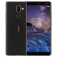 """NEUF Nokia 7 Plus 6.0"""" 4 Go 64 Go LTE Dual SIM Débloqué Android Smartphone Noir"""