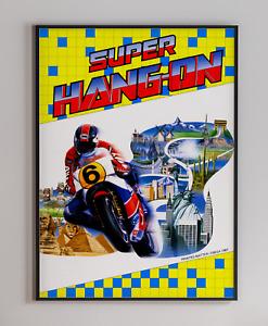 Super Hang On SEGA Arcade Video Game Retro Print Poster 18 x 24 inches