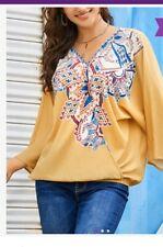 Suzanne Betro Weekend 4x Blouse Yellow Wrap Plus Size 18 20
