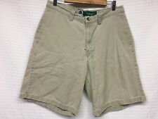 Men's LEVIS Silver Tab CHINO Beige Shorts DISTRESSED size 32 Flat Vintage