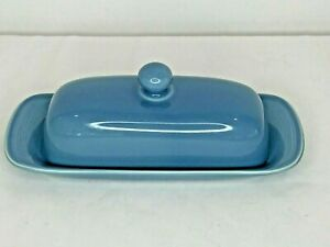 Nancy Calhoun Solid Color Light Blue 1/4 lb. Covered Butter Dish Stoneware