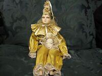 Make An Offer Vintage 1980's porcelain doll, jester, clown