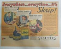 Sheaffer's Skrip Ink Ad:  Sheaffer's Skrip Ink from 1944 Size: 11 x 15 inches