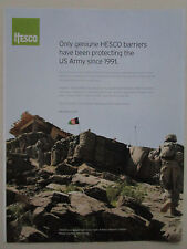 2012 PUB HESCO BASTION LIMITED US ARMY FORTIFICATION SYSTEM IRAQ ORIGINAL AD