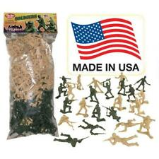 Plastic Army Men Green VS Tan 30pc Toy Soldier Figures