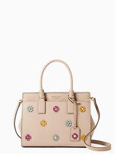 Kate Spade cameron spade flower applique medium satchel beige Authentic