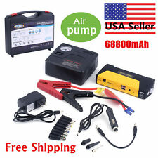 68800mAh 2USB Car Jump Starter Emergency Charger Booster Power Bank  +Air pump