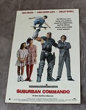 Suburban Commando 1991 Hulk Hogan Christopher Lloyd Duvall Video Poster EX