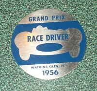 1956 WATKINS GLEN, NY GRAND PRIX DRIVERS CAR PLAQUE INTERNATIONAL RACE TRACK